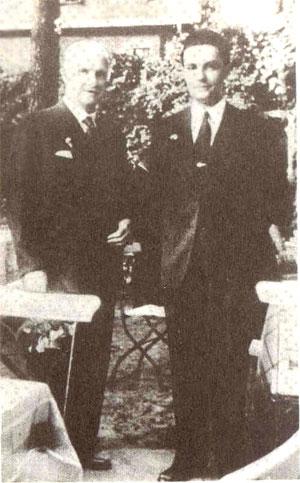 Гетьман Павло Скоропадський з сином Данилом