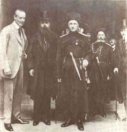 Гетьман Павло Скоропадський в оточенні дипломатів