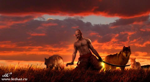 Козак з вовками