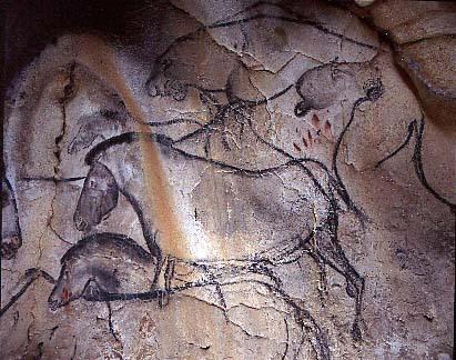 Картина на стіні печери