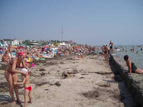 Бордюр на пляжі м. Генічиськ
