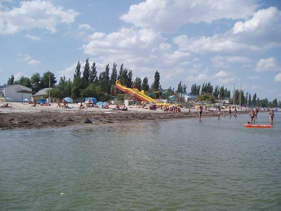 Пляж пансіонату Арбатська стрілка