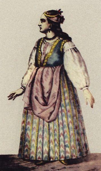 Вбрання дівчини-міщанки