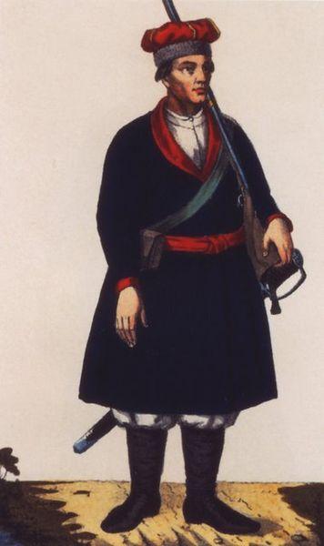 Козацьке вбрання XVIII ст.