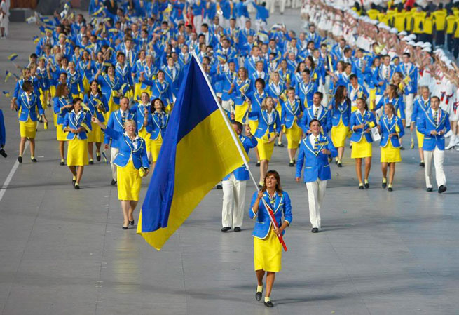 Прапор - українська команда на олімпіаді