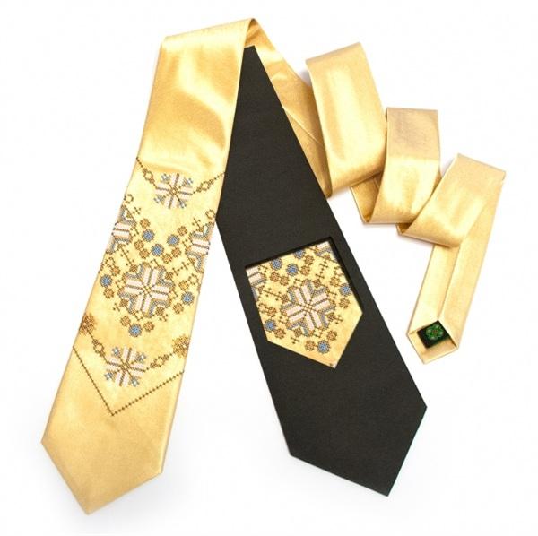 Золота чоловіча краватка