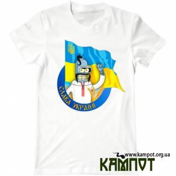 Футболка з Бендером і українським прапором