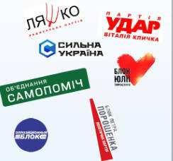 Українські политики на прозорому тлі.
