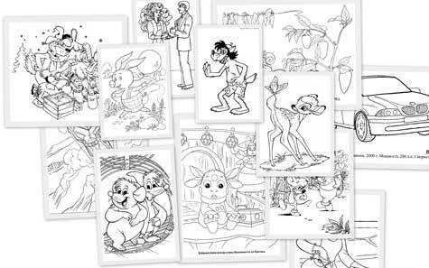 Колекція розмальовок на різні теми