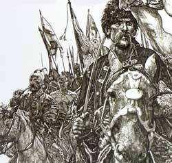 Козаки в графіці Якутовича