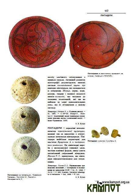 Сторінка з Енциклопедія Трипільської культури