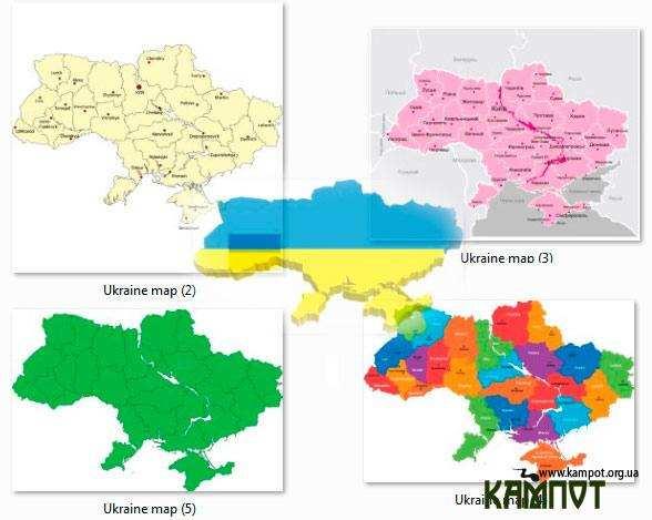 Мапа, карта України