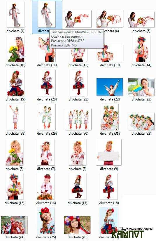 Українські дівчата в національних костюмах