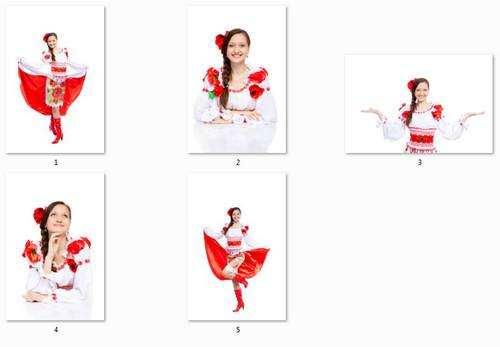 Українська дівчина в національному костюмі