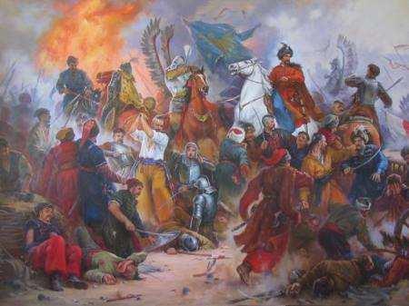 Богдан Хмельницький добиває Поляків