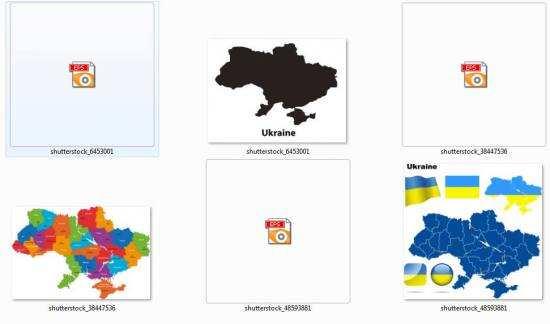 Векторна карта України