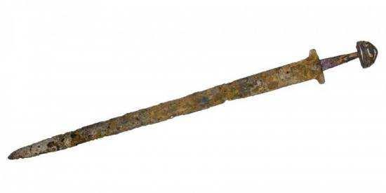 меч Святослава перед реставрацією