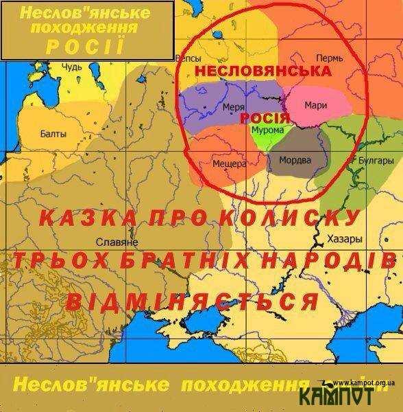 Карта Московії