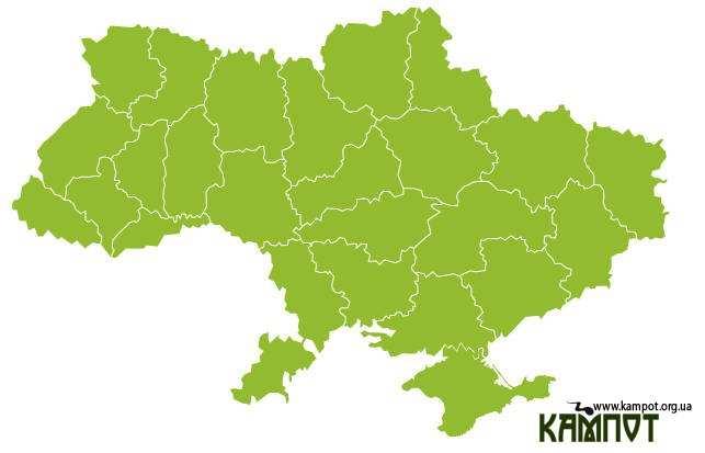 Інтерактивна карта України на css