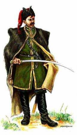 Козак Запорізького кінно-гірного артилерійського дивізіону, 1919р.