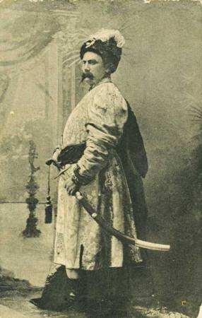 Старовинна листівка з козаком