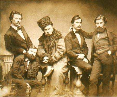 шевченко. фото в компанії друзів. 1859