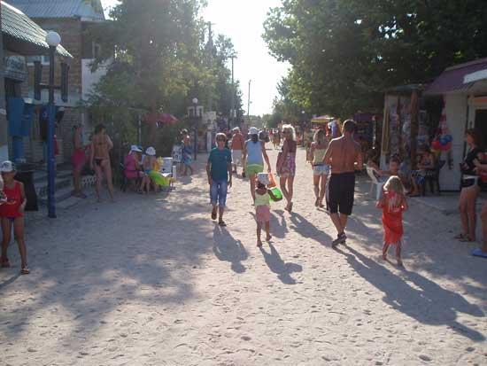 Вхід на пляж Арбатської стрілки
