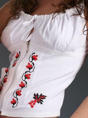 Блузка чи корсет з вишивкою