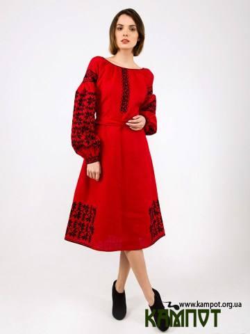 Жіноча вишиванка червоного кольору e0a505f59ebbb