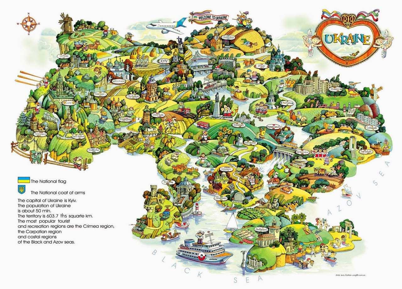 Українська мапа в казковому стилі