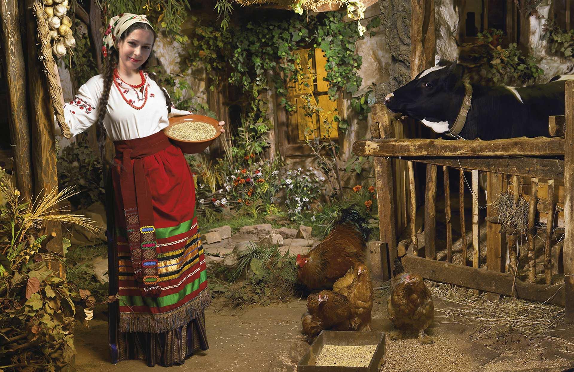 Українка в селі