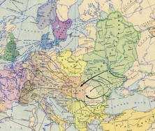 Мапа Київської Русі в кін. IX - поч. XI ст.