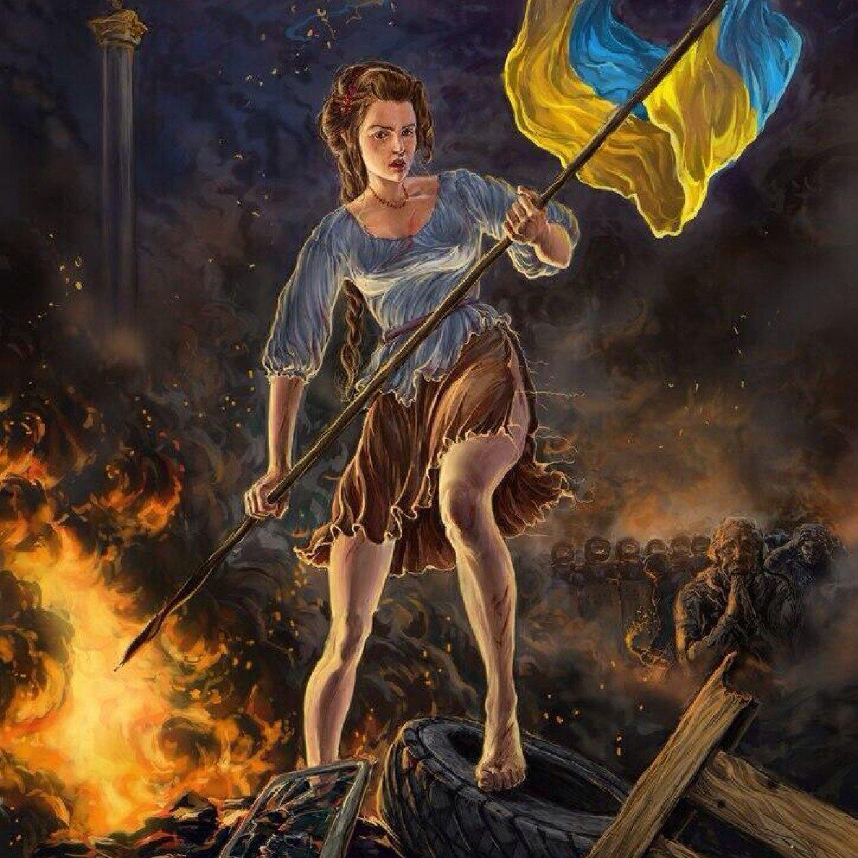 Жана-дарк на Майдані!