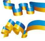Українська стрічка і прапор