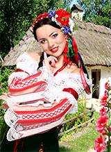 Шаблон - Дівчина в українському вбранні