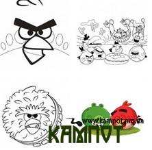 Розмальовки Angry Birds
