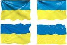 Український прапор у векторі