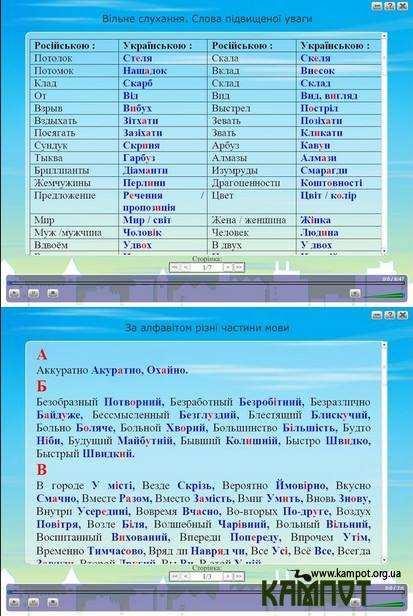 Українська мова. Уроки на диску